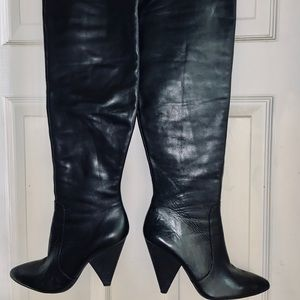Hollie Black 100% Leather Boots